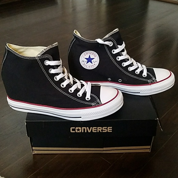 478b9b5d4837 NEW Converse Chuck Taylor mid rise wedge sneakers